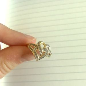 10 k gold and diamond ring -size 6?